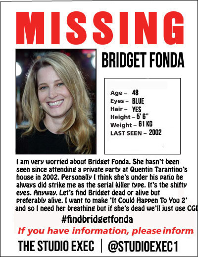 The Studio Exec MISSING IN ACTION: BRIDGET FONDA u2013 The ...
