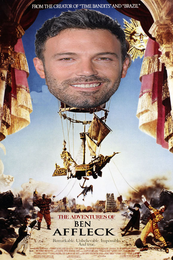 BEN AFFLECK'S GIANT HEAD TO GO AROUND THE WORLD IN 80 DAYS