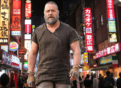 50FT RUSSELL CROWE ATTACKS TOKYO