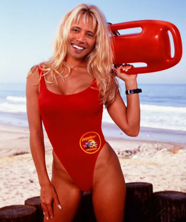 FIRST LOOK: DWAYNE THE ROCK JOHNSON IN BAYWATCH: THE MOVIE