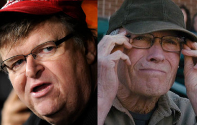 Michael Moore and Clint Eastwood
