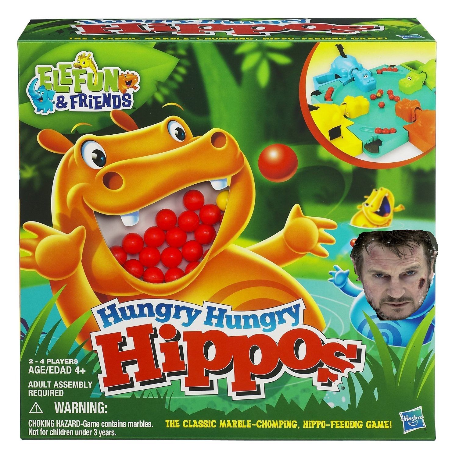 HUNGRY HUNGRY HIPPOS GREEN LIT