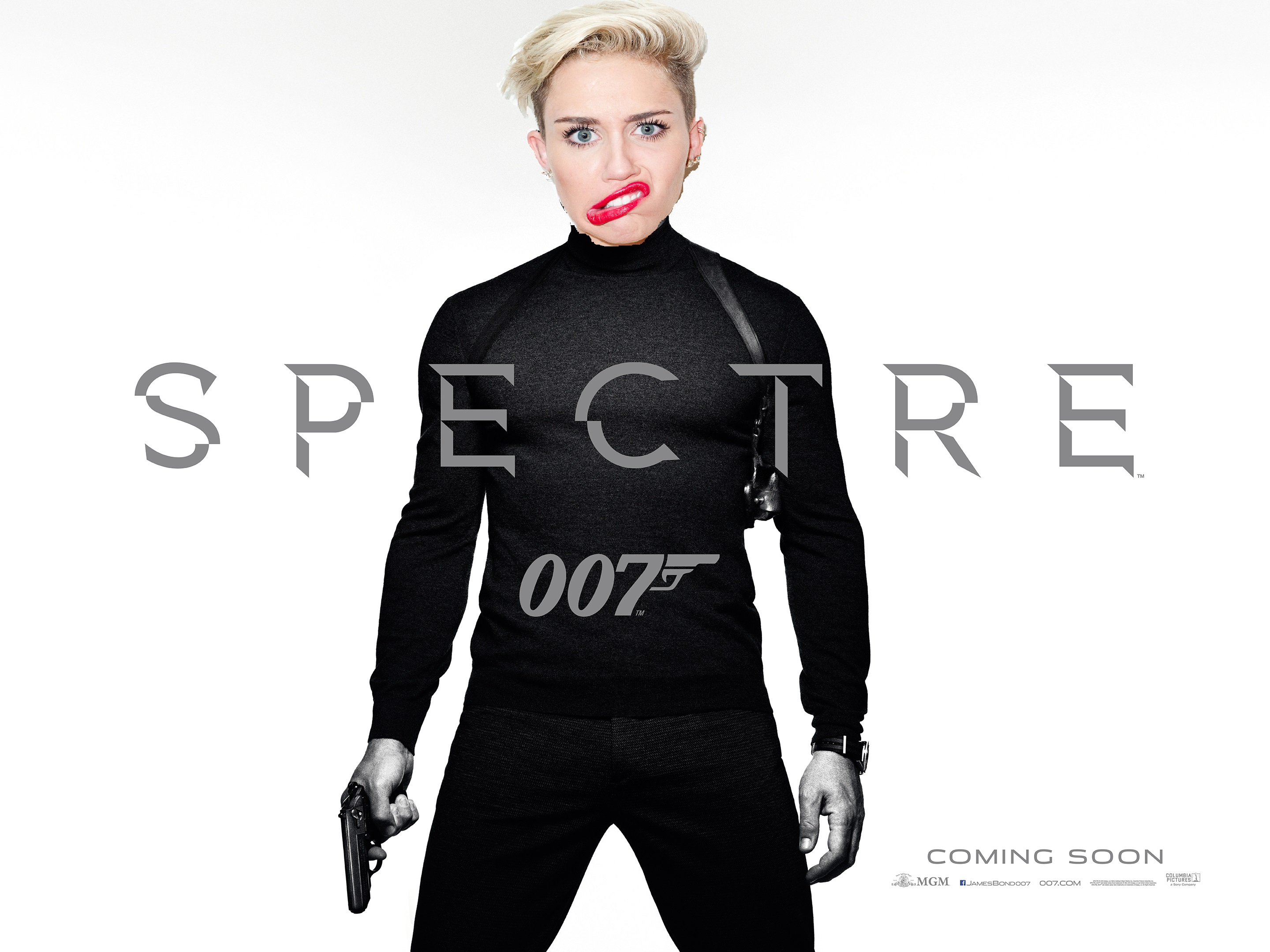 MILEY CYRUS SINGS BOND SONG FOR SPECTRE