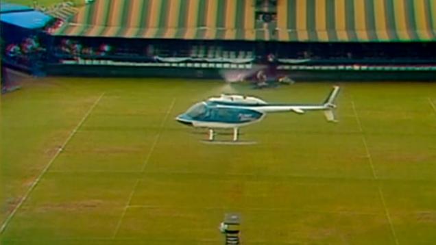 HARRISON FORD CRASH LANDS HELICOPTER ON TENNIS COURT