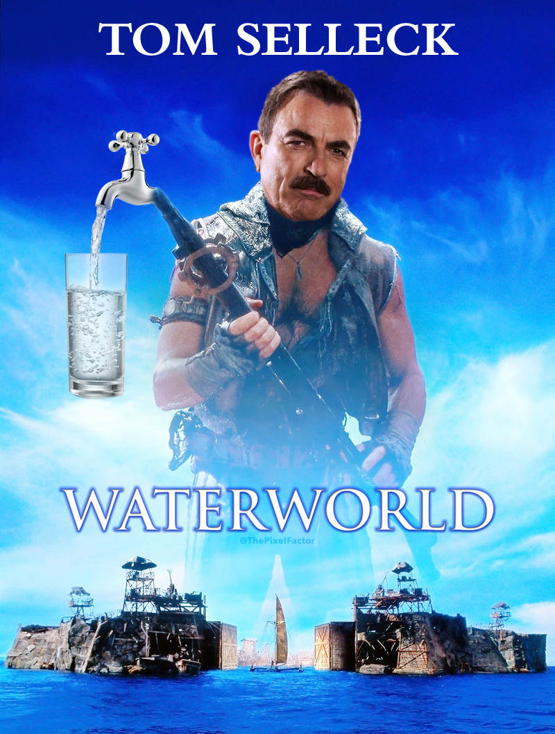TOM SELLECK TO REMAKE WATERWORLD