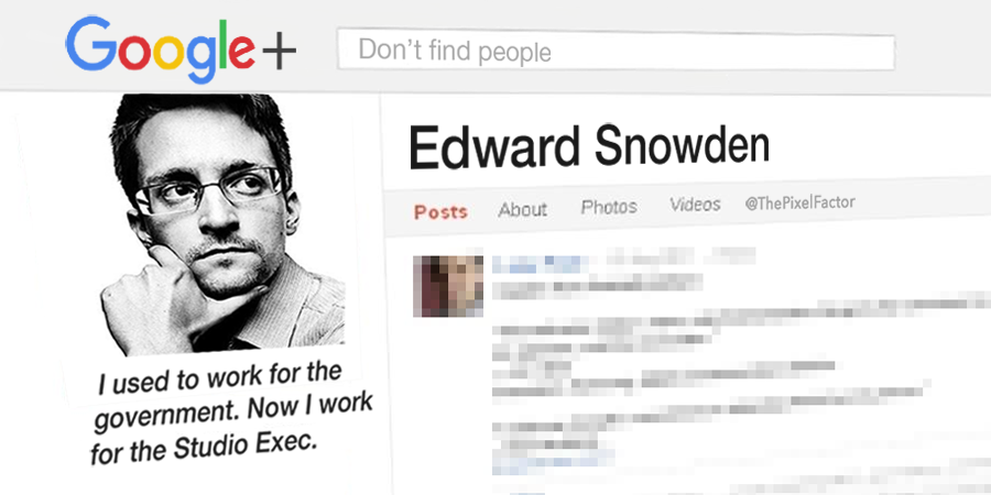 EDWARD SNOWDEN JOINS GOOGLE PLUS