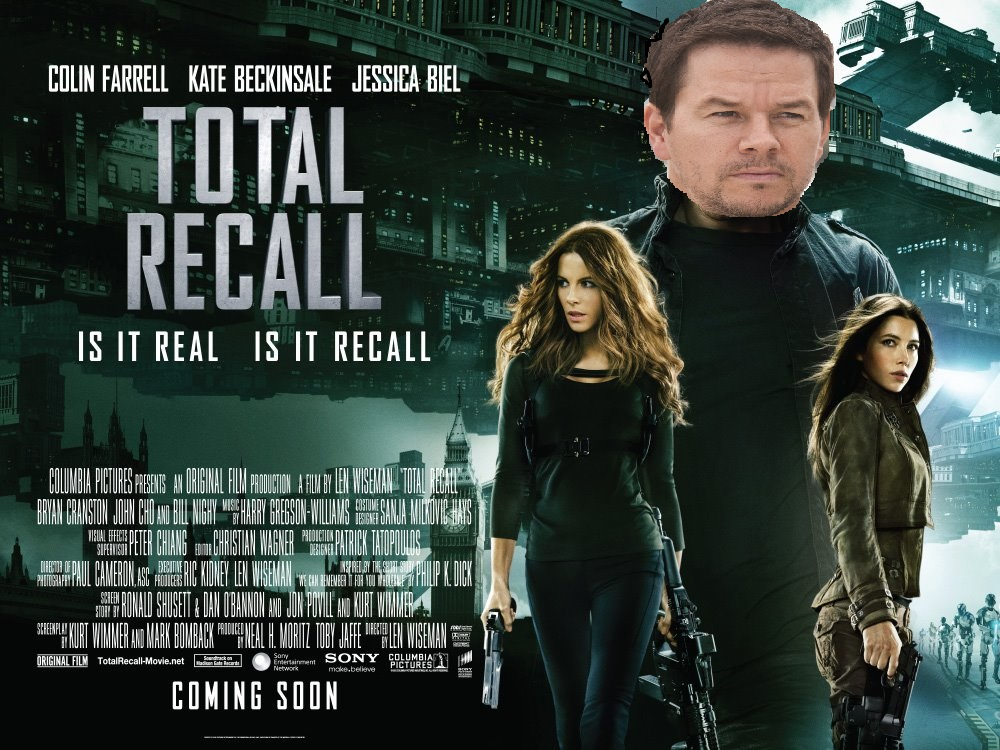 MARK WAHLBERG TO REMAKE COLIN FARRELL'S TOTAL RECALL