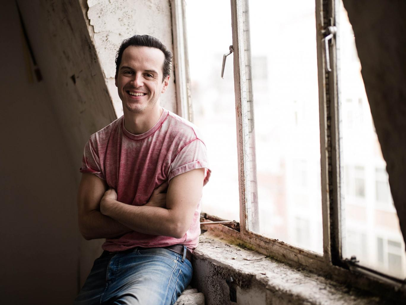 ANDREW SCOTT CAUGHT IN ATTIC WEARING T-SHIRT