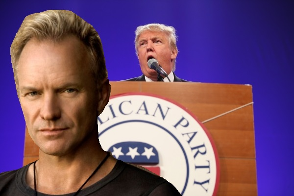 DONALD TRUMP PROMISES TO DEPORT STING
