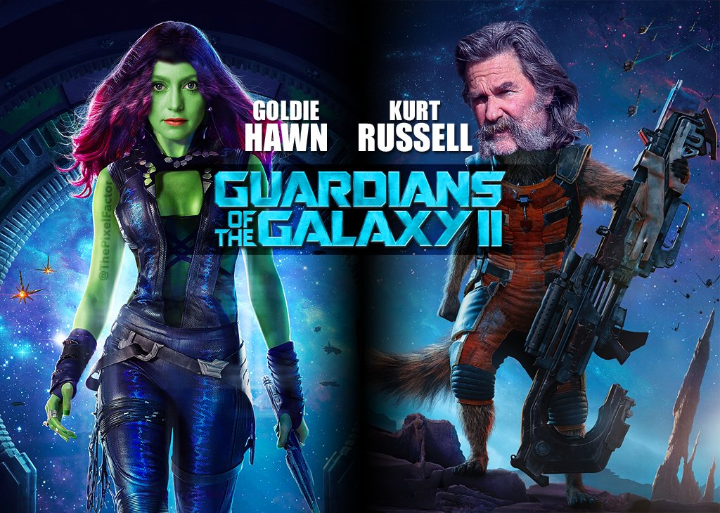 GOLDIE HAWN JOINS KURT RUSSELL FOR GUARDIANS OF THE GALAXY 2