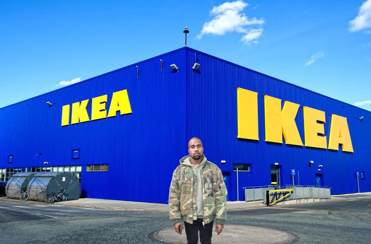 KANYE WEST CAPTURED IN IKEA