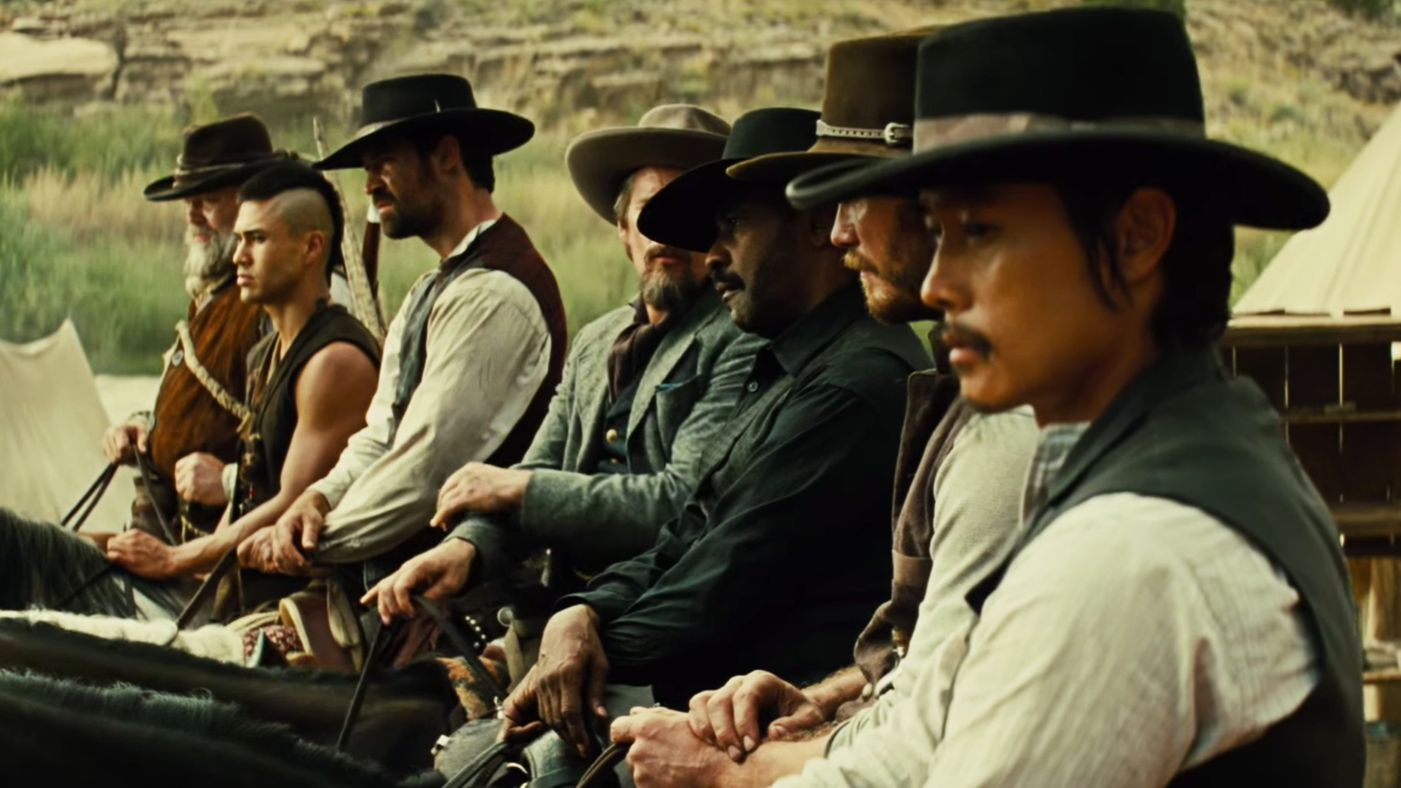 MAGNIFICENT SEVEN FANS CONCERNED GLOSSY HOLLYWOOD REMAKE BETRAYS SPIRIT OF ORIGINAL GLOSSY HOLLYWOOD REMAKE