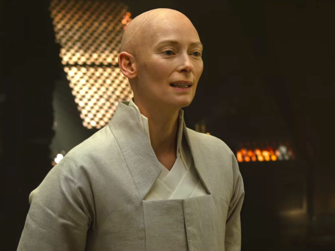 FIRST IMAGE OF TILDA SWINTON AS CAINE IN KUNG FU MOVIE