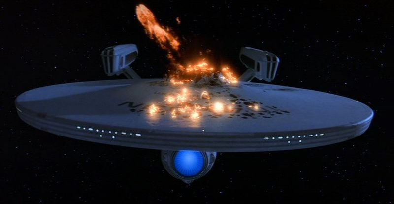 STARSHIP ENTERPRISE DESTROYED AGAIN: 'SAFETY ISSUES'