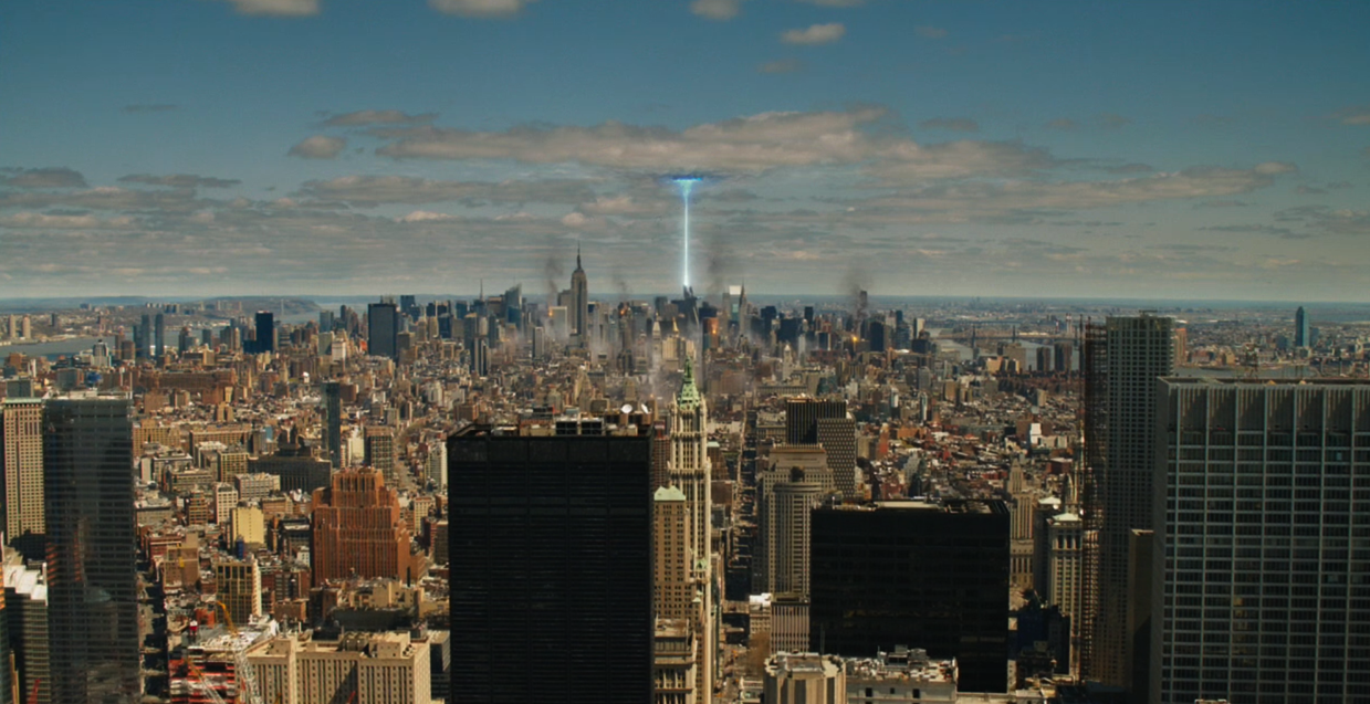 NOT ENOUGH MOVIES WITH A BLUE LIGHT GOING INTO THE SKY, AUDIENCES FEEL