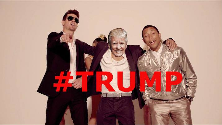 BLURRED LINES TO BECOME NATIONAL ANTHEM UNDER DONALD TRUMP