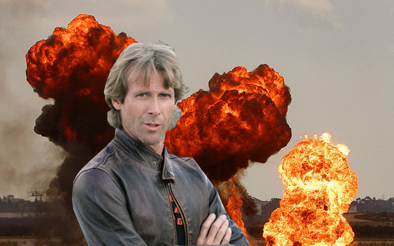 MICHAEL BAY PARACHUTES IN TO GUAM