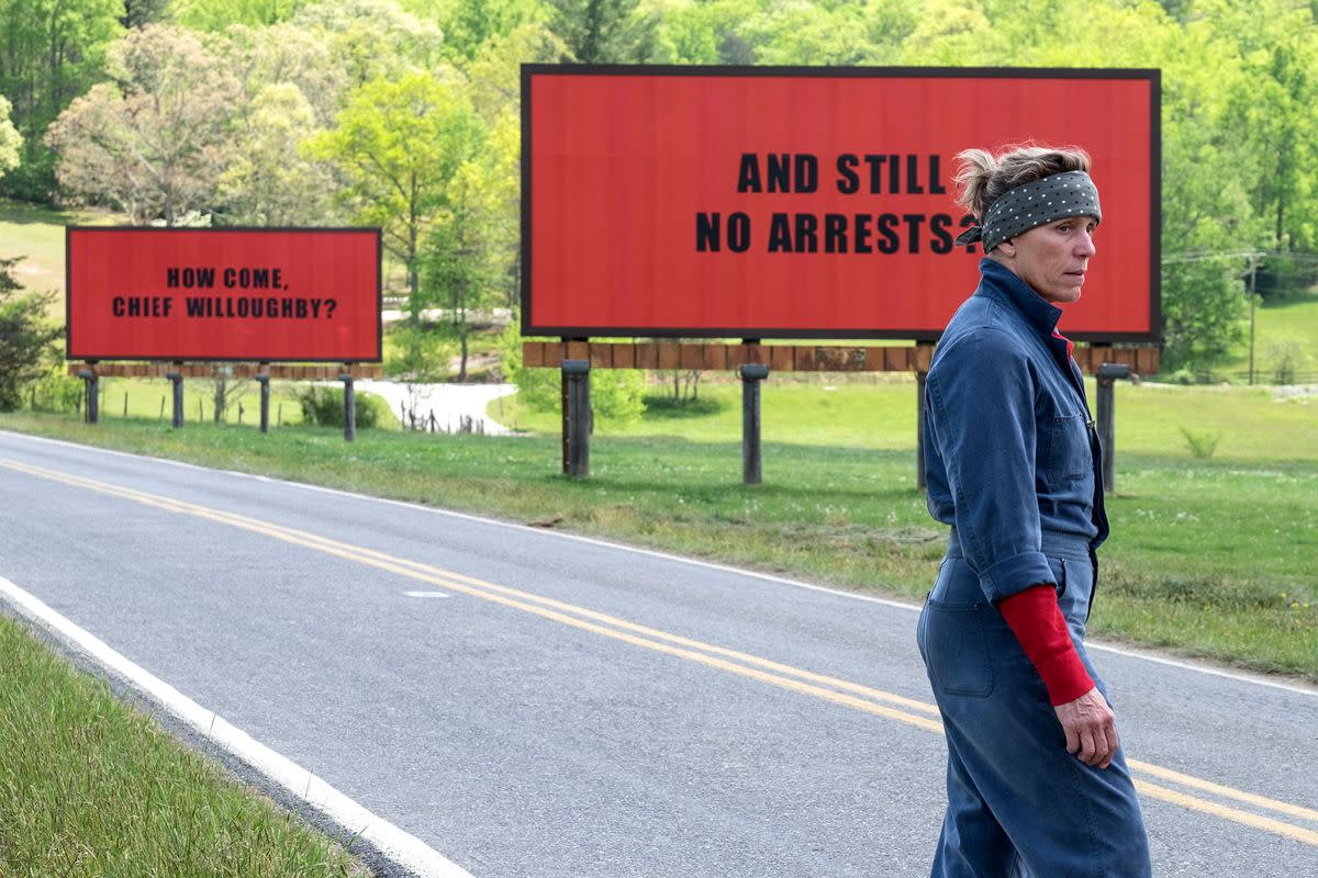 THREE BILLBOARDS OUTSIDE EBBING MISSOURI – REVIEW