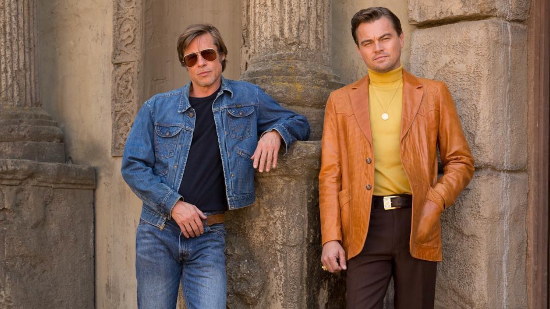 FIRST LOOK AT AARON ECKHART AND RAY LIOTTA IN ONCE UPON A TIME IN HOLLYWOOD