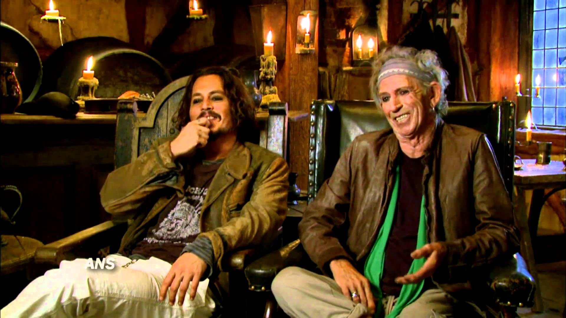 KEITH RICHARDS ACCIDENTALLY SMOKES JOHNNY DEPP